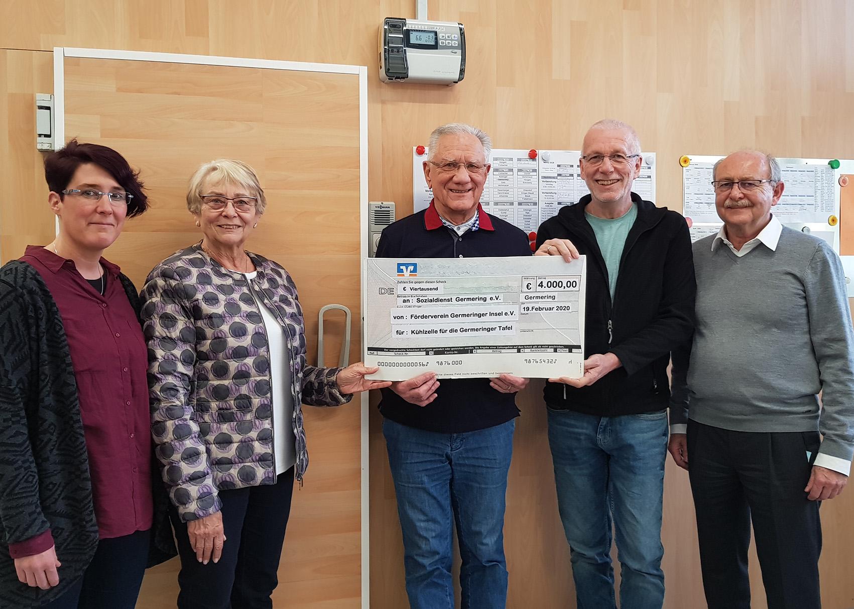 Förderverein unterstützt Germeringer Tafel mit 4.000 Euro